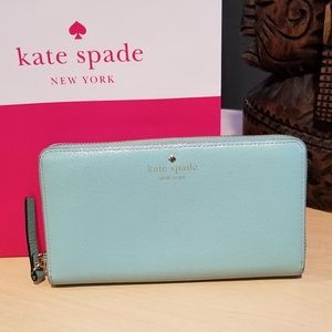 Kate Spade zip-around Wallet mint color